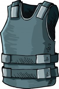 11387267 - illustration of bullet proof vest. isolated on white